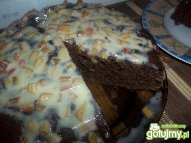 Przepis  kawowe ciasto z rabarbarem przepis