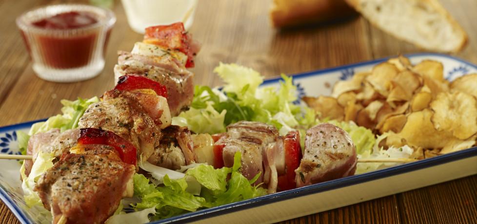 Grill: szaszłyki z polędwiczek wieprzowych