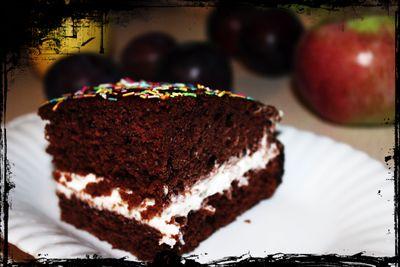 Piernik z masą cytrynową i polewą czekoladową