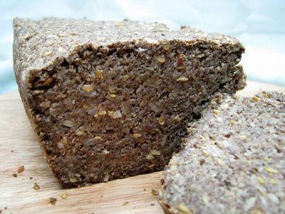 Chleb bezglutenowy z mąką owsianą/teff, bez drożdży, bez zakwasu ...