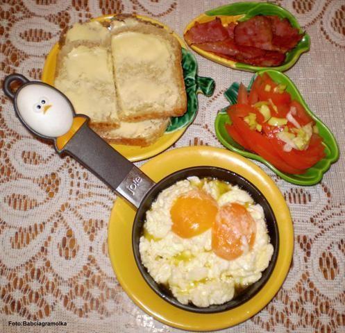 Przepis  jajecznica-,maczanka, : przepis