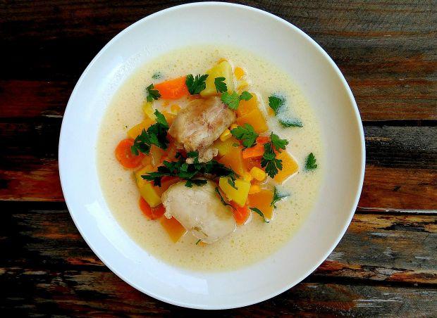 Przepis  jesienna zupa z dynią i kukurydzą przepis