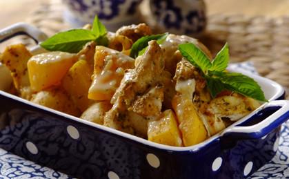 Aromatyczna zapiekanka z kurczakiem i dynią