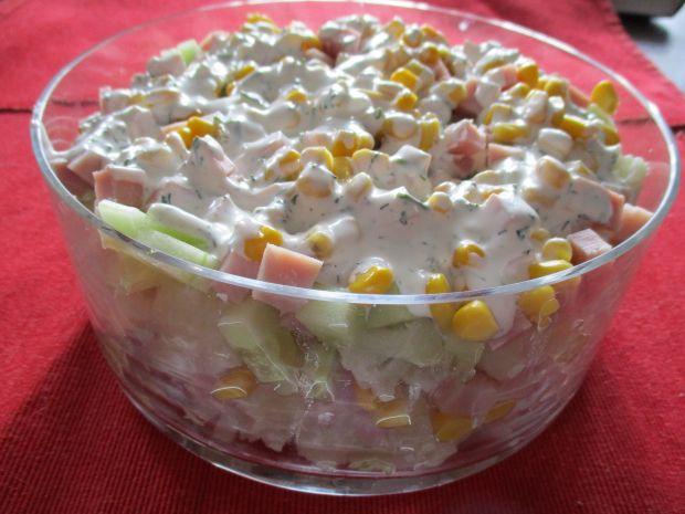 Przepis  sałatka z kalafiorem i szynką przepis