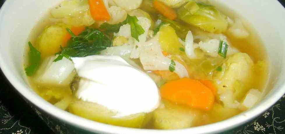 Zupa z brukselką i kalafiorem... (autor: w-mojej