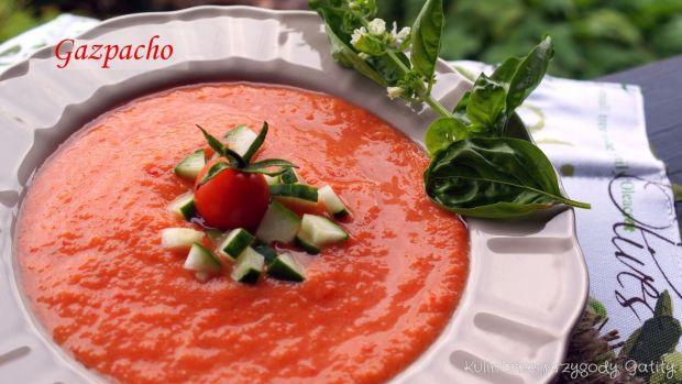 Przepis  gazpacho z pieczoną papryką przepis