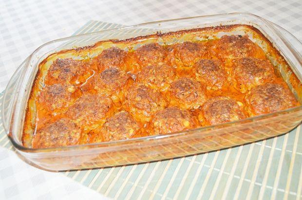 Przepis  pieczone pulpeciki z ryżem w sosie przepis