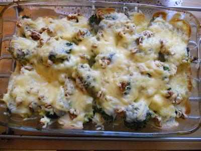 Zapiekanka z brokułem i kalafiorem