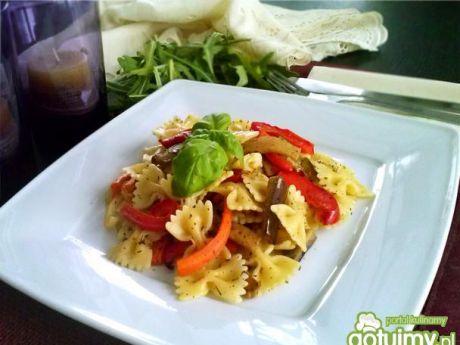 Przepis  makaron z grillowanymi warzywami przepis