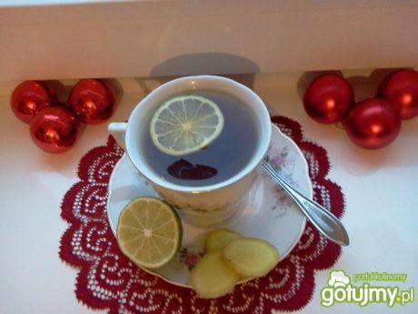 Przepis  herbata z miodem, imbirem i limonką przepis