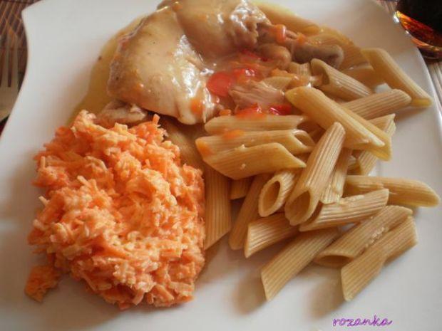 Przepis  kurczak paprykowo-marchewkowy przepis