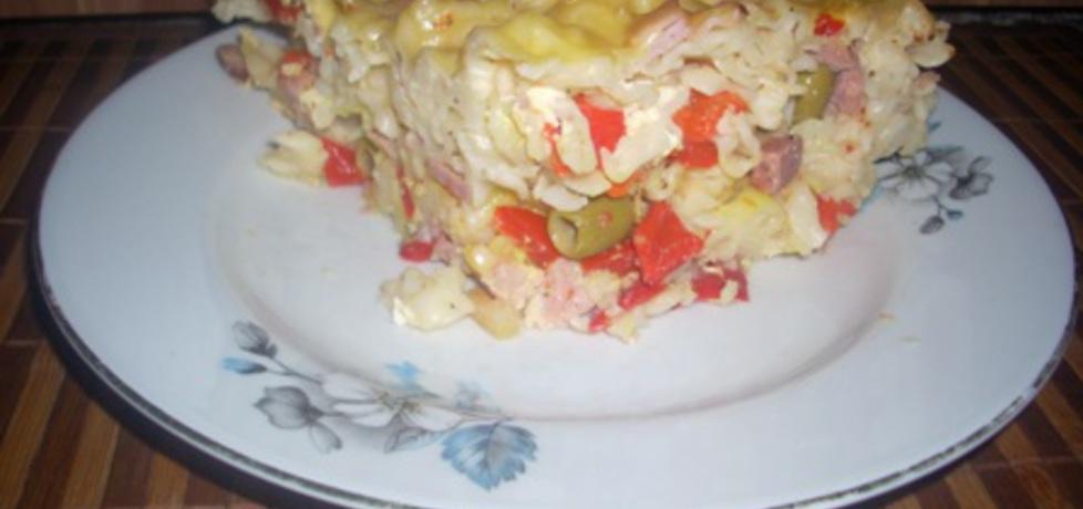 Makaronowa zapiekanka z oliwkami (autor: piter