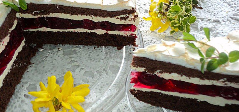 Ciasto czekoladowe z wiśniami i bezą (autor: anna133 ...