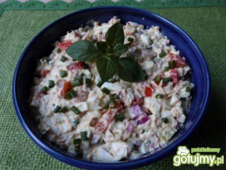 Przepis  sałatka z filetów z makreli w oleju przepis