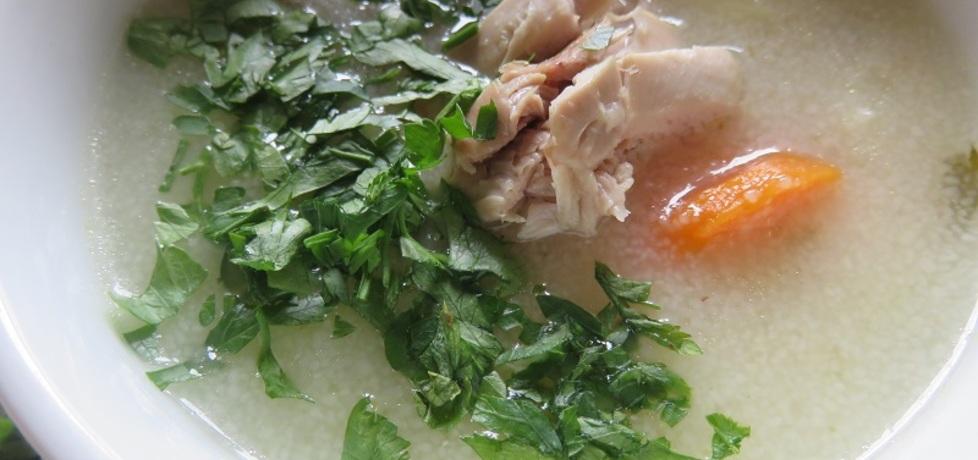 Lekka zupa z kaszą manną (autor: magdow)