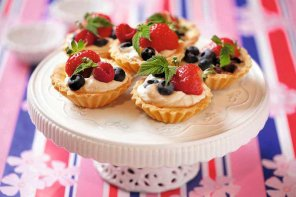 Kruche babeczki z owocami  prosty przepis i składniki