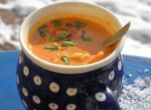 Zupa soczewicowo  kokosowa z chili