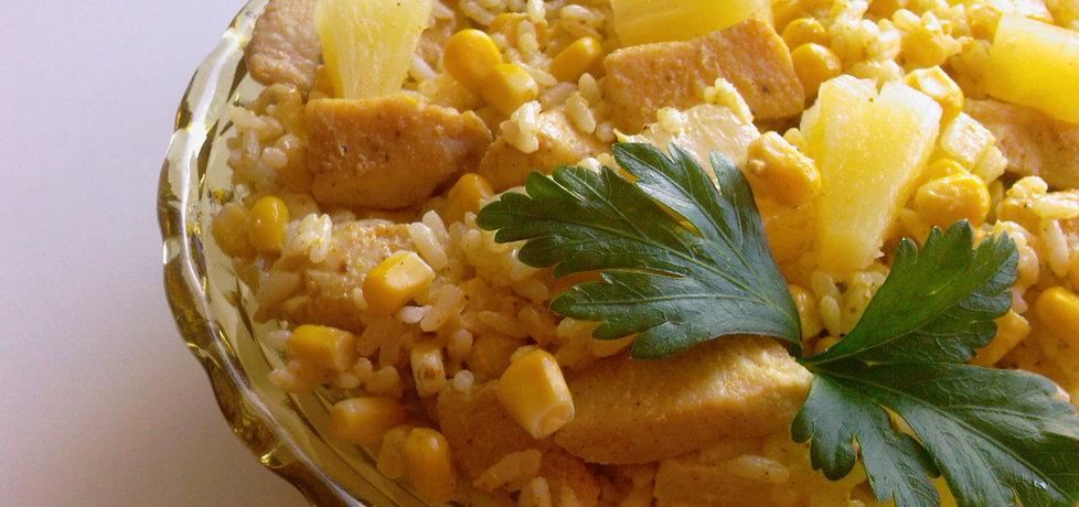 Sałatka curry z kurczakiem, ananasem i ryżem (autor: mufinka79 ...