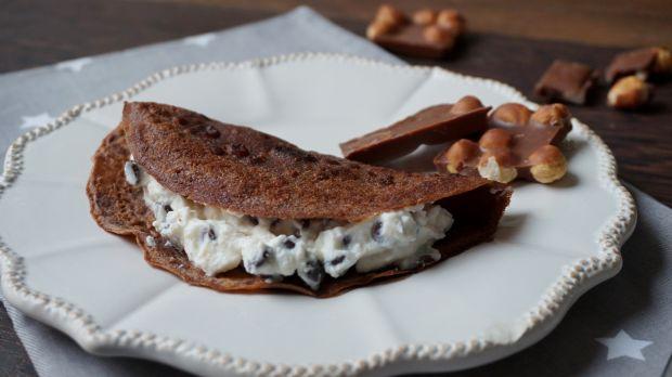 Przepis  naleśniki czekoladowe z serem przepis