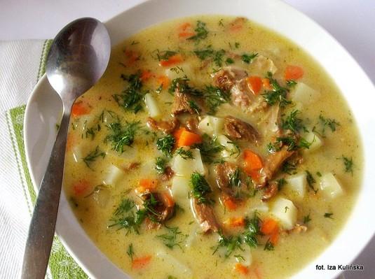Zimowa zupa mega kurkowa