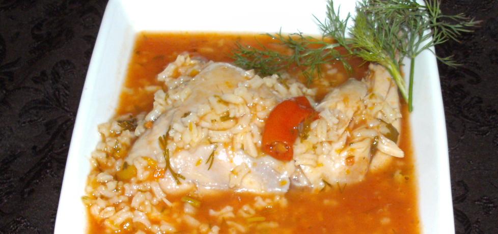 Na udkach kurczaka pomidorowa z ryżem... (autor: w-mojej