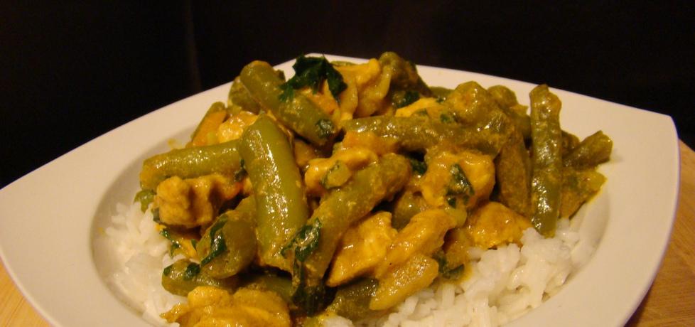 Kurczak z fasolką szparagową w sosie curry (autor: dorian ...