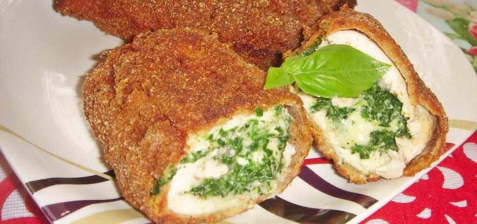 Roladki drobiowe ze szpinakiem i mozzarellą (autor: justi2401 ...