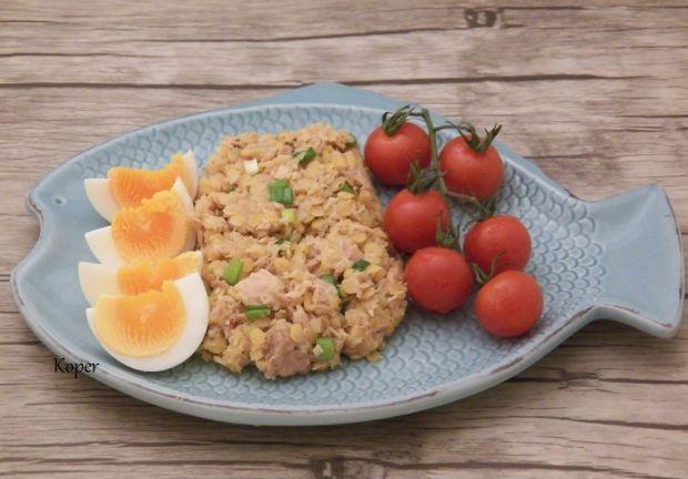 Przepis  sałatka z tuńczykiem i soczewicą przepis