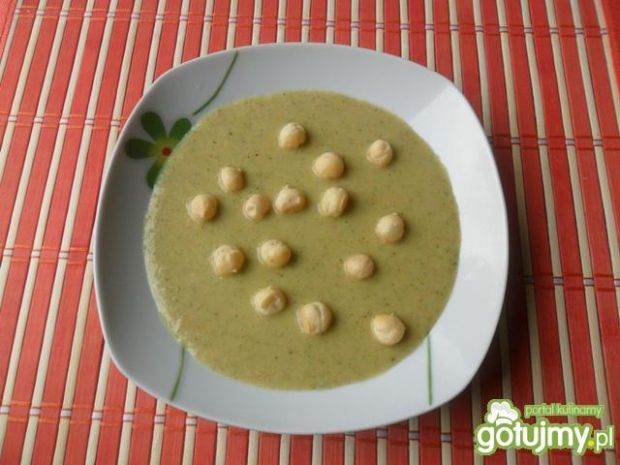 Przepis  zupa krem z zielonego groszku6 przepis