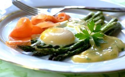 Łosoś i szparagi, czyli śniadanie dla smakosza