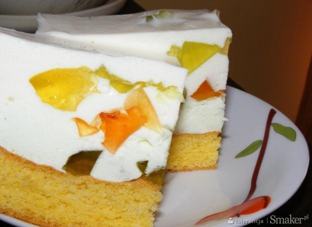Ciasto biszkoptowe z bitą smietaną