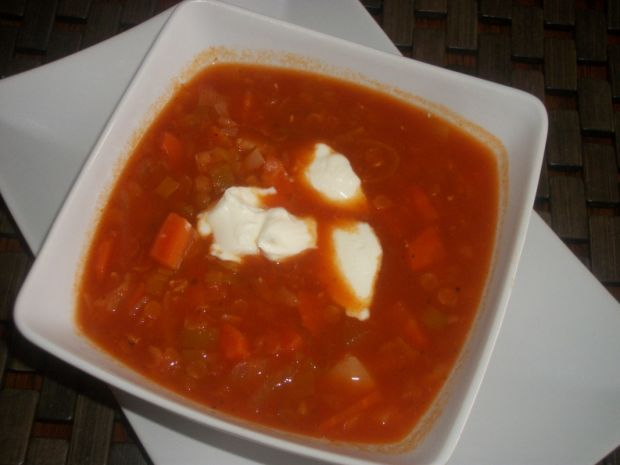 Przepis  zupa z soczewicą wg zub3r'a przepis
