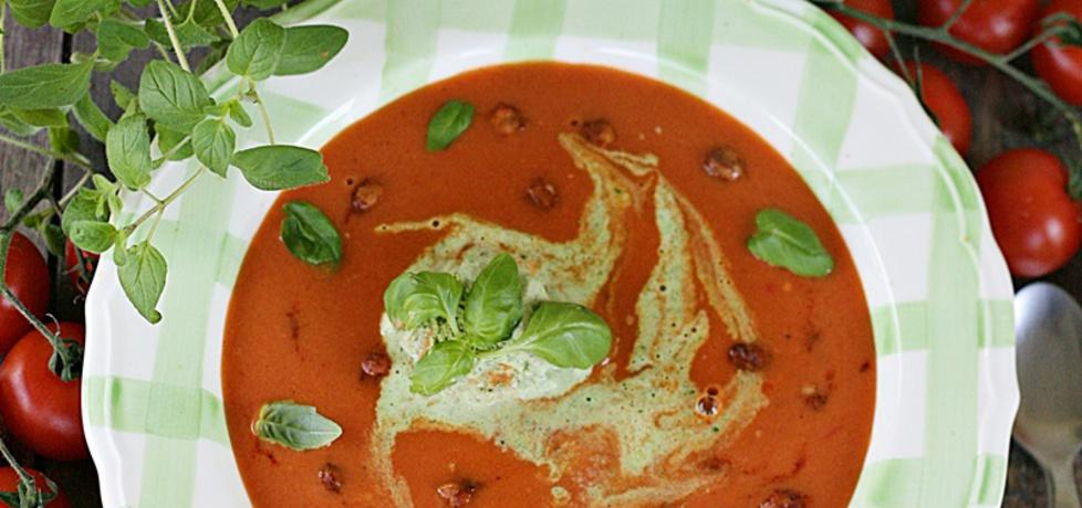 Krem z pomidorów z imbirem i bazyliowymi lodami (autor: kuchnia ...