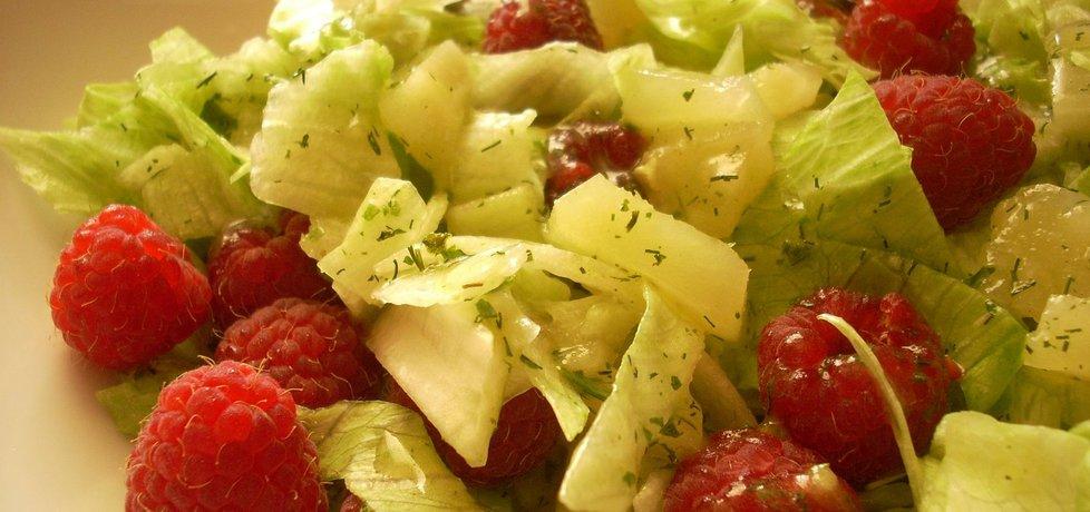 Sałata z anansem i malinami (autor: smacznapyza ...