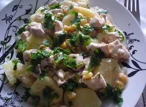 Kurczak w delikatnym sosie  prosty przepis i składniki