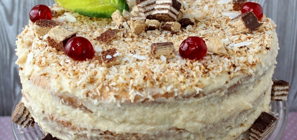 Tort di z wafelkami i kokosowym kremem z kaszy manny (autor ...