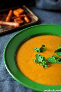 Zupa krem z pieczonej marchewki i batatów