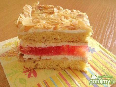 Przepis  ciasto ucierane z wkładką owocową przepis