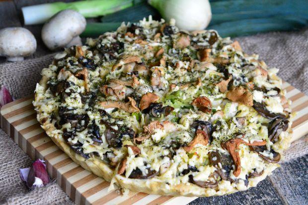 Przepis  jesienna tarta z grzybami przepis