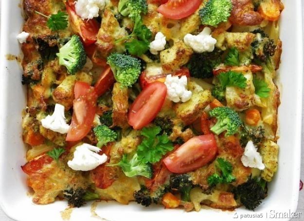 Zapiekanka makaronowa z rybą i warzywami