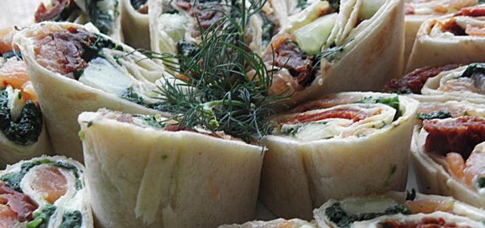 Tortilla z łososiem. (autor: ewa104)