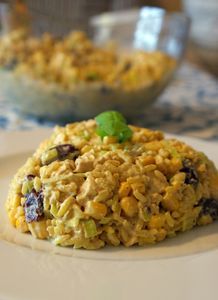 Sałatka ryżowa z kurczakiem