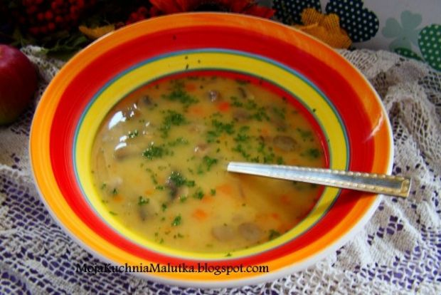 Przepis  zupa pieczarkowo- borowikowa przepis