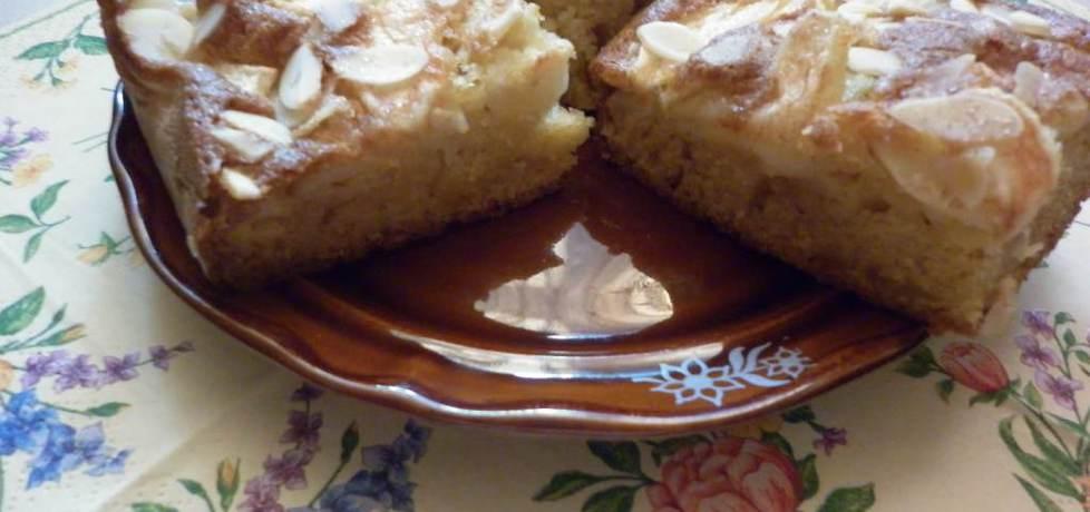 Ciasto z jabłkami i płatkami migdałowymi na bazie przepisu borgii ...