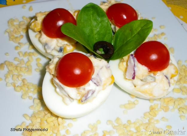 Przekąska wielkanocna: jajka faszerowane