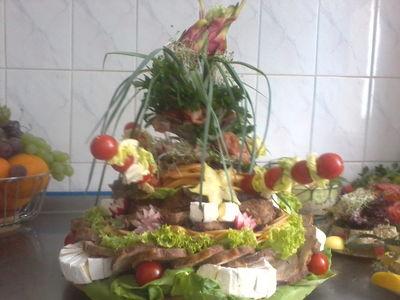 Turban z wędlin i serów