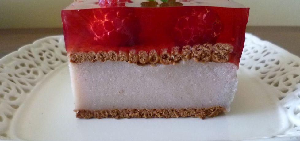 Czekoladowe ciasto z kaszy manny z malinami (autor: krystyna32 ...
