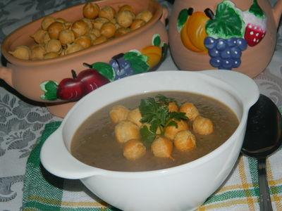 Zupa krem z zielonej soczewicy