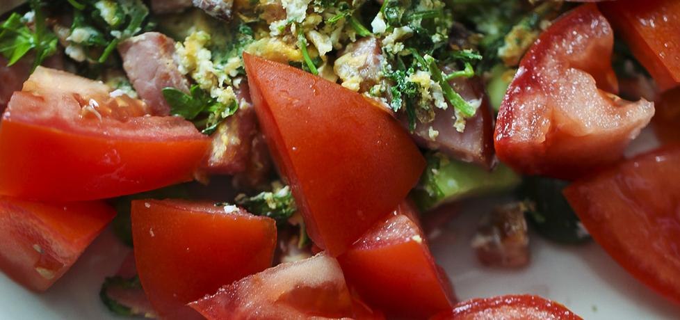 Jajecznica z zielskiem i pomidorami (autor: dorota20w ...