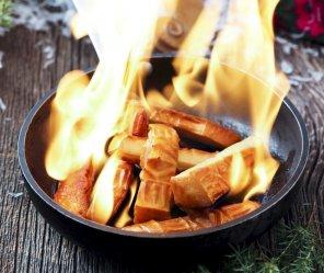 Oscypek podpalany śliwowicą  prosty przepis i składniki